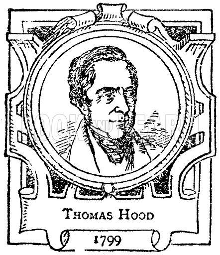 Thomas Hood. Illustration for The Portrait Birthday-Book (Seely, c 1870).