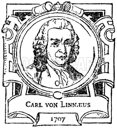 Carl von Linnaeus. Illustration for The Portrait Birthday-Book (Seely, c 1870).