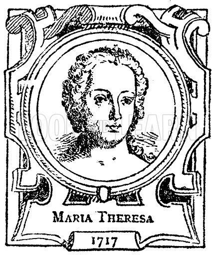 Maria Theresa. Illustration for The Portrait Birthday-Book (Seely, c 1870).