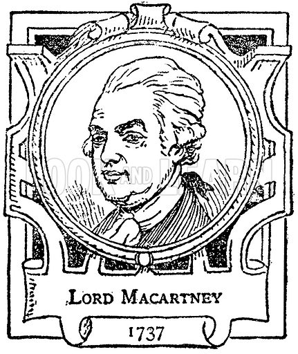 Lord Macartney. Illustration for The Portrait Birthday-Book (Seely, c 1870).