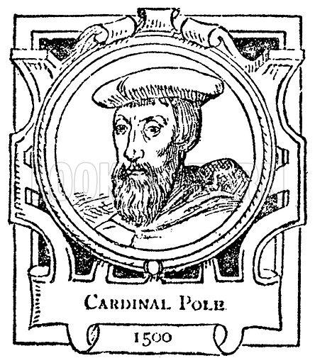 Cardinal Pole. Illustration for The Portrait Birthday-Book (Seely, c 1870).