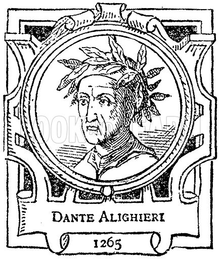 Dante Alighieri. Illustration for The Portrait Birthday-Book (Seely, c 1870).
