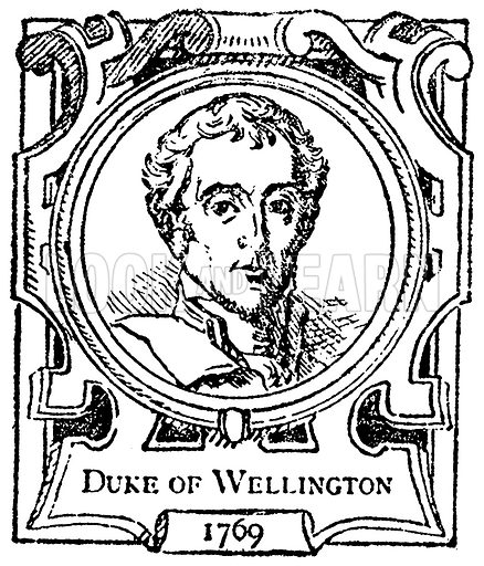Duke of Wellington. Illustration for The Portrait Birthday-Book (Seely, c 1870).