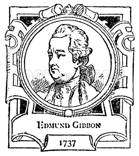 Edmund Gibbon. Illustration for The Portrait Birthday-Book (Seely, c 1870).