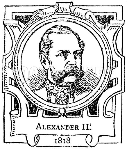 Alexander II. Illustration for The Portrait Birthday-Book (Seely, c 1870).