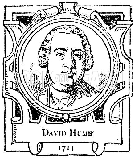 David Hume. Illustration for The Portrait Birthday-Book (Seely, c 1870).