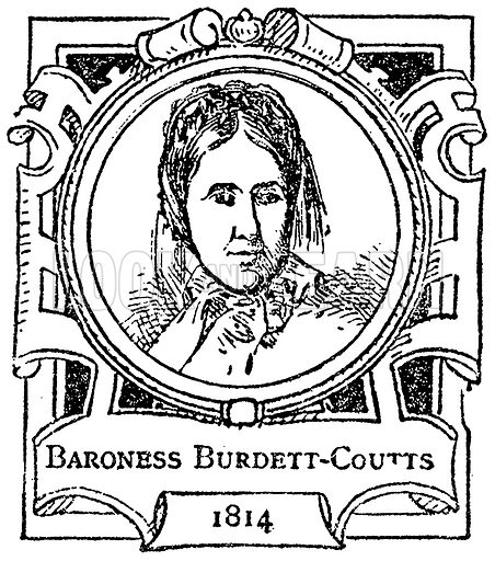 Baroness Burdett-Coutts. Illustration for The Portrait Birthday-Book (Seely, c 1870).