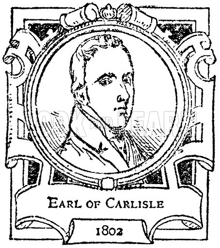 Earl of Carlisle. Illustration for The Portrait Birthday-Book (Seely, c 1870).