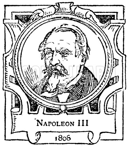 Napoleon III. Illustration for The Portrait Birthday-Book (Seely, c 1870).