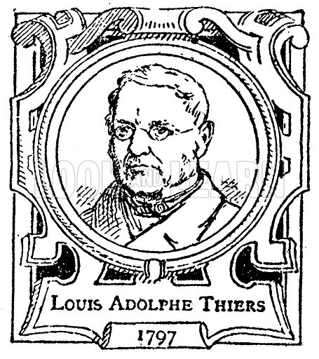 Louis Adolphe Thiers. Illustration for The Portrait Birthday-Book (Seely, c 1870).