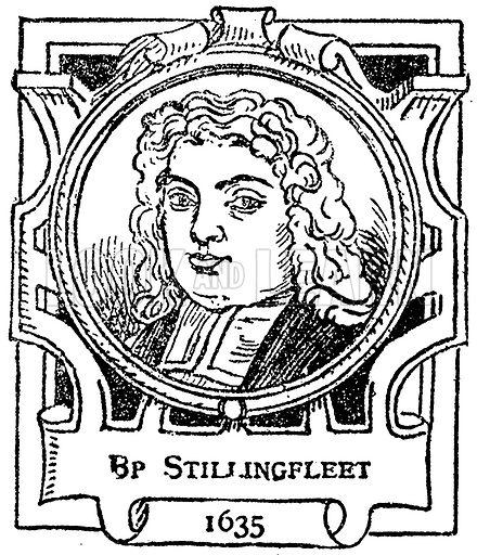 Bp Stillingfleet. Illustration for The Portrait Birthday-Book (Seely, c 1870).