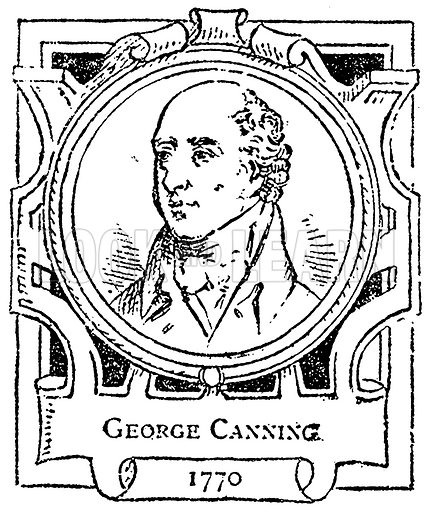 George Canning. Illustration for The Portrait Birthday-Book (Seely, c 1870).