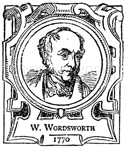 W Wordsworth. Illustration for The Portrait Birthday-Book (Seely, c 1870).