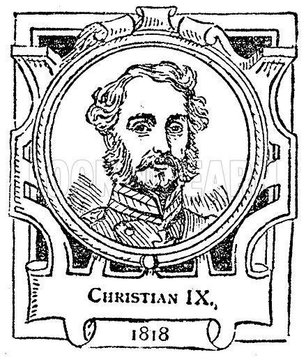Christian IX. Illustration for The Portrait Birthday-Book (Seely, c 1870).