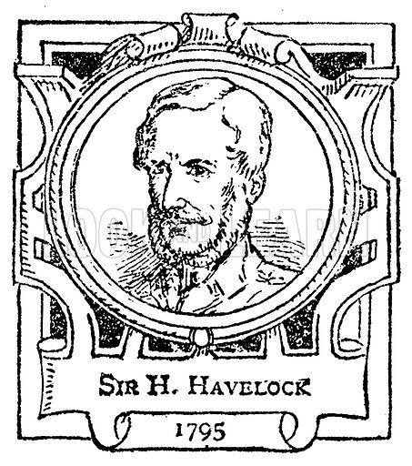 Sir H. Havelock. Illustration for The Portrait Birthday-Book (Seely, c 1870).