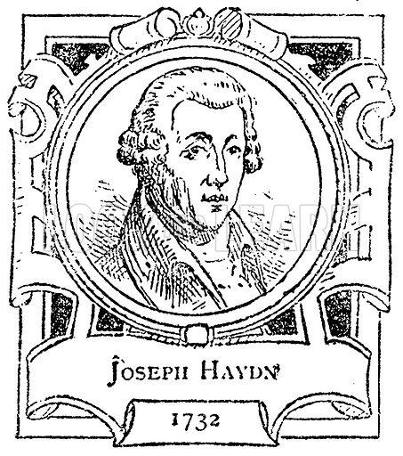 Joseph Haydn. Illustration for The Portrait Birthday-Book (Seely, c 1870).