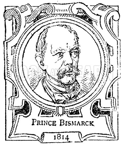 Prince Bismarck. Illustration for The Portrait Birthday-Book (Seely, c 1870).