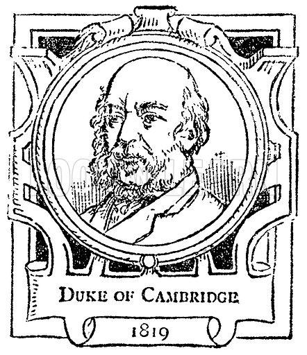 Duke of Cambridge. Illustration for The Portrait Birthday-Book (Seely, c 1870).
