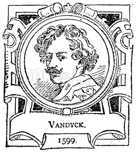 Vandyck. Illustration for The Portrait Birthday-Book (Seely, c 1870).