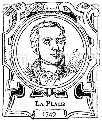 La Place. Illustration for The Portrait Birthday-Book (Seely, c 1870).