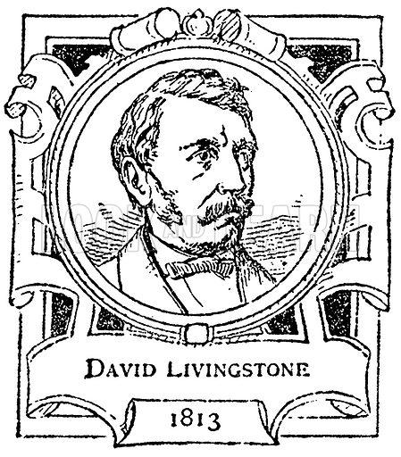 David Livingstone. Illustration for The Portrait Birthday-Book (Seely, c 1870).