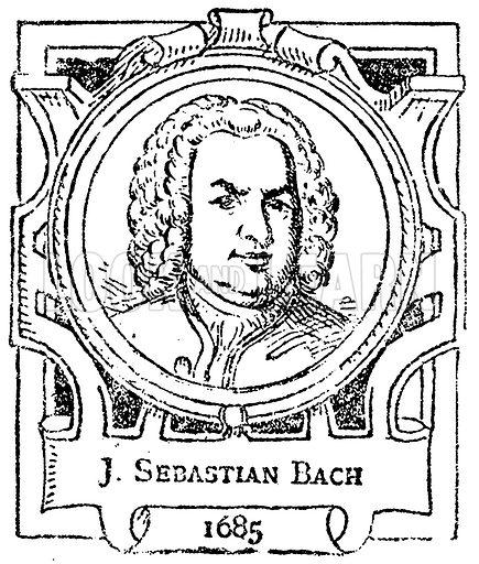 J. Sebastian Bach. Illustration for The Portrait Birthday-Book (Seely, c 1870).