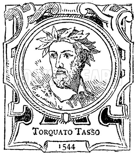Torquato Tasso. Illustration for The Portrait Birthday-Book (Seely, c 1870).