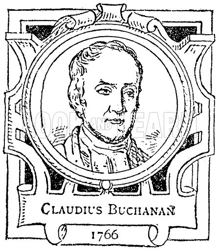 Claudius Buchanan. Illustration for The Portrait Birthday-Book (Seely, c 1870).