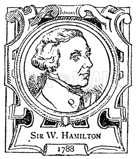 Sir W. Hamilton. Illustration for The Portrait Birthday-Book (Seely, c 1870).