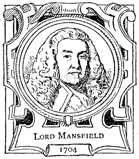 Lord Mansfield. Illustration for The Portrait Birthday-Book (Seely, c 1870).