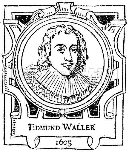 Edmund Waller. Illustration for The Portrait Birthday-Book (Seely, c 1870).