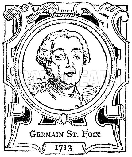 Germain St. Foix. Illustration for The Portrait Birthday-Book (Seely, c 1870).