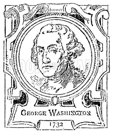 George Washington. Illustration for The Portrait Birthday-Book (Seely, c 1870).