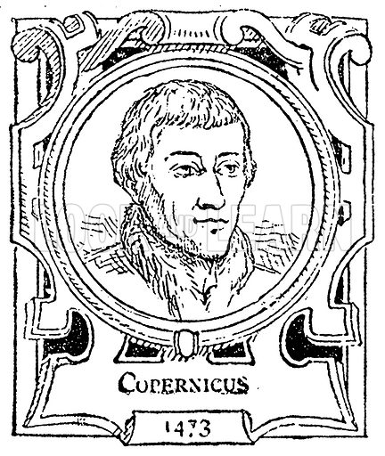 Copernicus. Illustration for The Portrait Birthday-Book (Seely, c 1870).