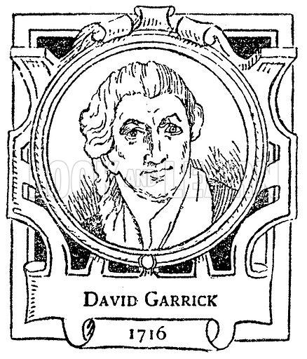 David Garrick. Illustration for The Portrait Birthday-Book (Seely, c 1870).