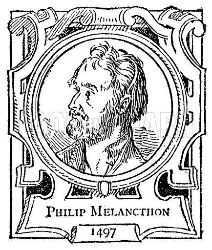 Philip Melancthon. Illustration for The Portrait Birthday-Book (Seely, c 1870).