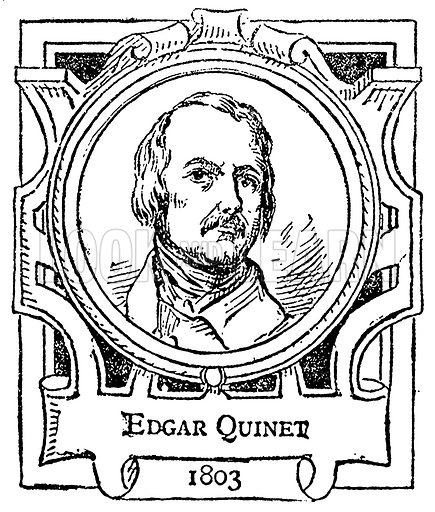 Edgar Quinet. Illustration for The Portrait Birthday-Book (Seely, c 1870).