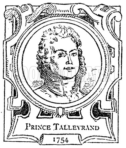 Prince Talleyrand. Illustration for The Portrait Birthday-Book (Seely, c 1870).
