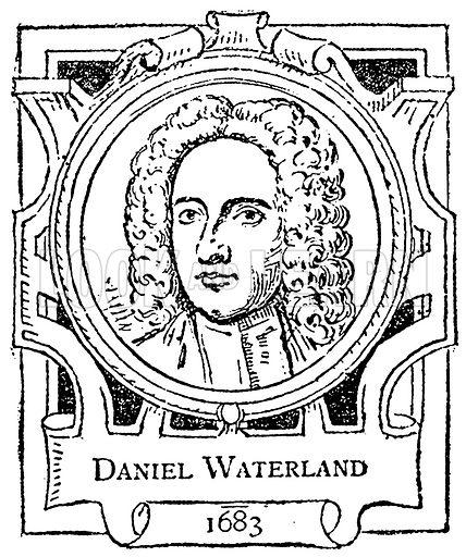 Daniel Waterland. Illustration for The Portrait Birthday-Book (Seely, c 1870).