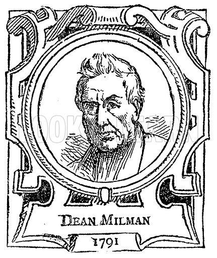 Dean Milman. Illustration for The Portrait Birthday-Book (Seely, c 1870).