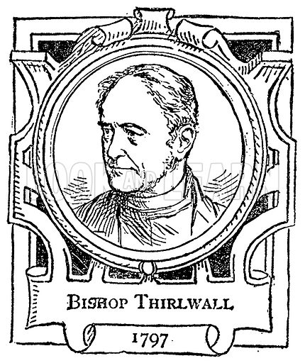 Bishop Thirlwall. Illustration for The Portrait Birthday-Book (Seely, c 1870).