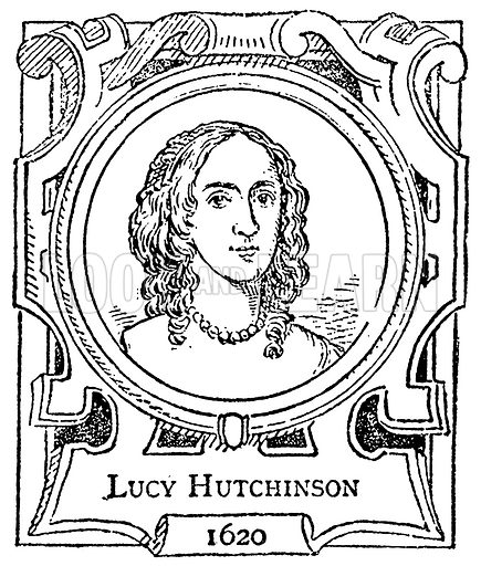 Lucy Hutchinson. Illustration for The Portrait Birthday-Book (Seely, c 1870).