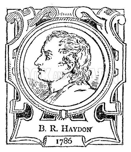 BR Haydon. Illustration for The Portrait Birthday-Book (Seely, c 1870).
