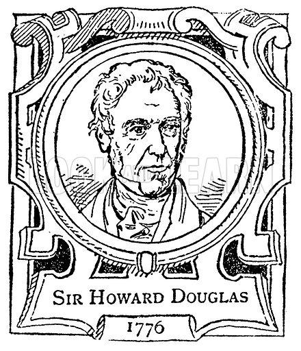 Sir Howard Douglas. Illustration for The Portrait Birthday-Book (Seely, c 1870).