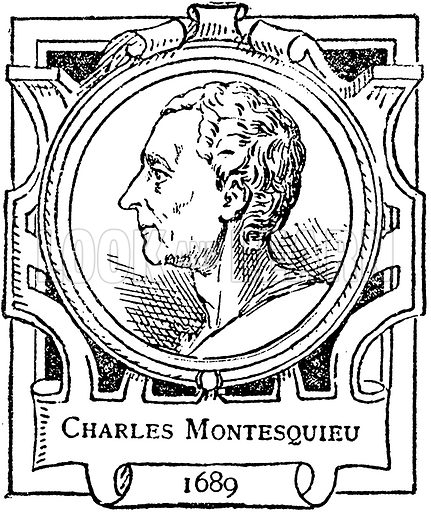 Charles Montesquieu. Illustration for The Portrait Birthday-Book (Seely, c 1870).