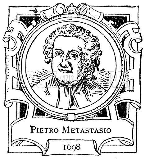 Pietro Metastasio. Illustration for The Portrait Birthday-Book (Seely, c 1870).