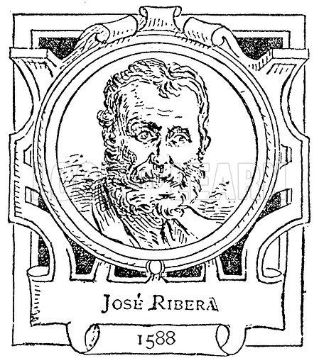 Jose Ribera. Illustration for The Portrait Birthday-Book (Seely, c 1870).