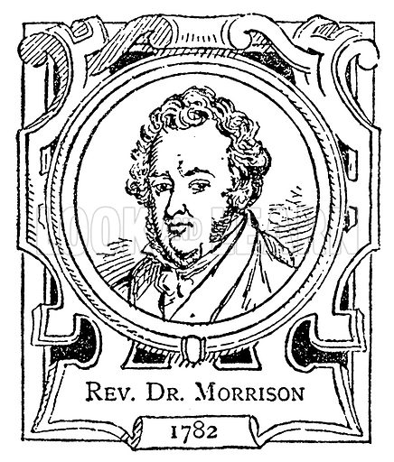 Rev. Dr. Morrison. Illustration for The Portrait Birthday-Book (Seely, c 1870).
