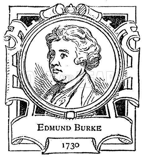 Edmund Burke. Illustration for The Portrait Birthday-Book (Seely, c 1870).