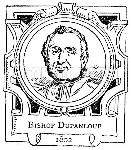 Bishop Dupanloup. Illustration for The Portrait Birthday-Book (Seely, c 1870).